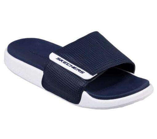 skechers gambix slippers en instapper navy blauw