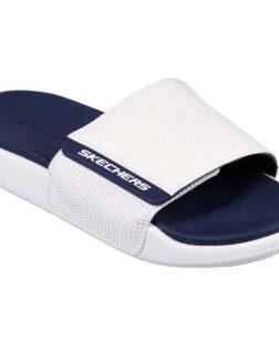 skechers gambix slippers en instapper wit