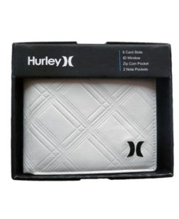 Hurley, leather-wallet, lerderen portemonnee
