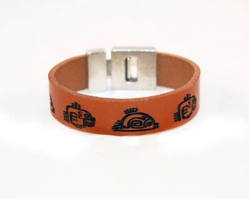 Leren armband heren, surf-armband, symbols