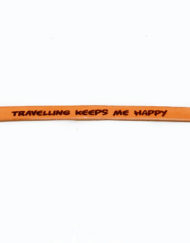 Leren armband-happy