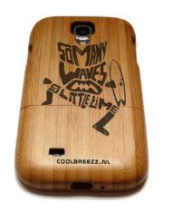 Samsung S4 houten hoesje bamboe