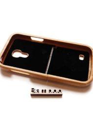 Samsung S4 mini houten hoesjes bamboe1