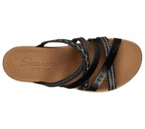 Skechers Beverlee Tiger Posse dames slippers 31714_BLK_B (1)