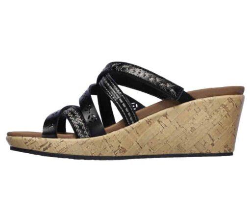 Skechers Beverlee Tiger Posse dames slippers 31714_BLK_B (3)