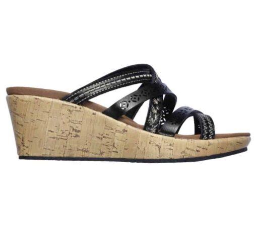 Skechers Beverlee Tiger Posse dames slippers 31714_BLK_B (4)