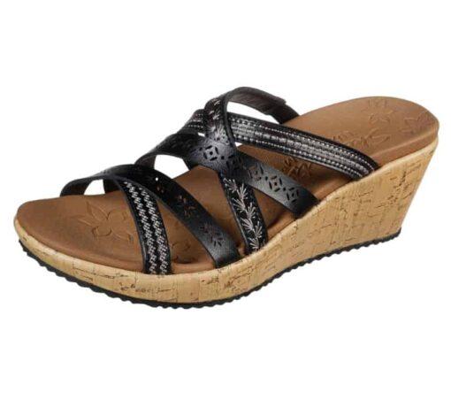 Skechers Beverlee Tiger Posse dames slippers 31714_BLK_B (5)