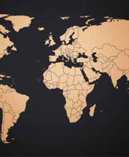 wereld map copper edition