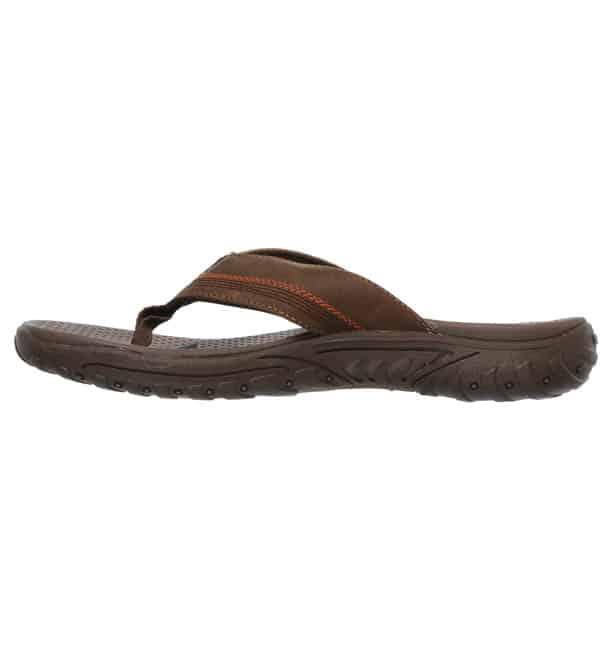 heren slippers skechers bruin3