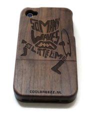 iphone 4 houten hoesjes walnut