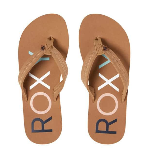 quiksilver slippers dames bruin