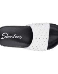 Skechers instapslippers Cali wit boven