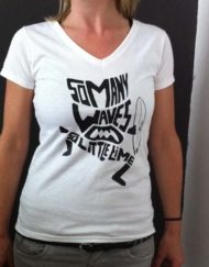 Dames t shirt wit, v hals ,